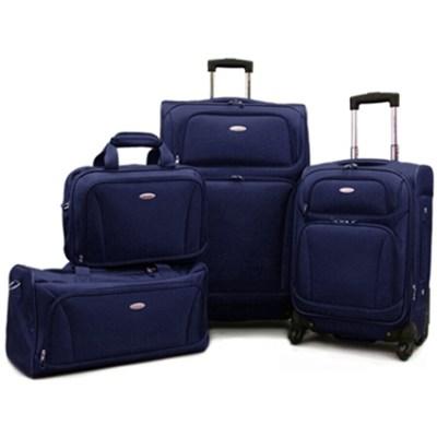 Premium 4 Piece Lightweight Set (20` & 28` Spinners, Duffel & Boarding) {Navy)