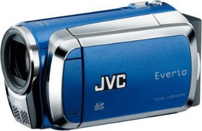 Everio GZ-MS130 16GB Dual Flash Camcorder (Blue)