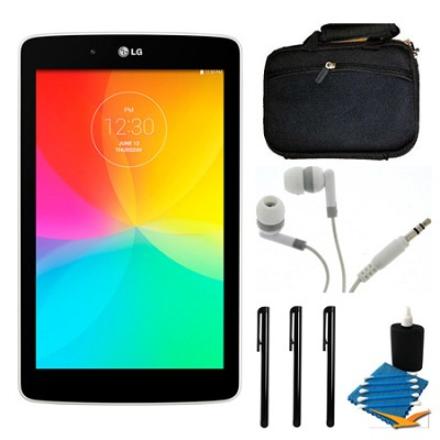 G Pad V 400 8GB 7.0` WiFi White Tablet and Case Bundle