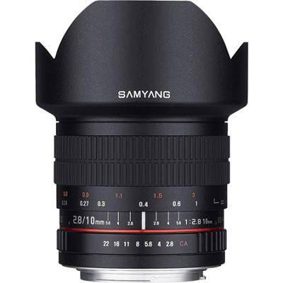 10mm F2.8 Ultra Wide Angle Lens for Canon Mount