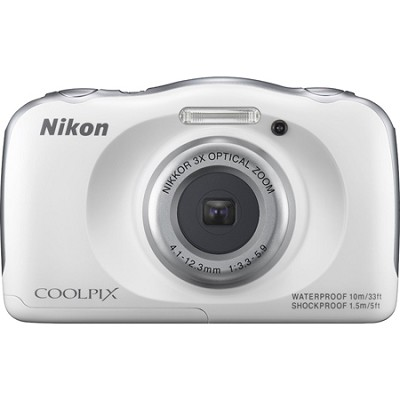 COOLPIX S33 13.2MP Waterproof Shockproof Freezeproof Digital Camera - White