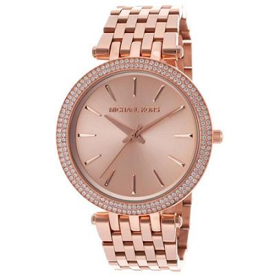 Darci Pave Rose Gold-Tone Women's Watch - MK3192
