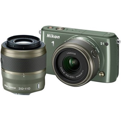 1 S1 10.1MP Khaki Digital Camera with 11-27.5mm and 30-110mm Lenses