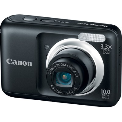 PowerShot A800 10MP Black Digital Camera w/ 3.3x Optical Zoom