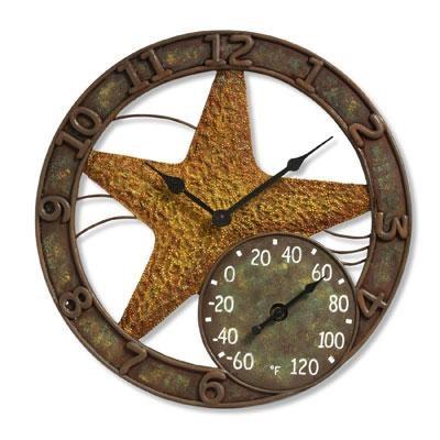 14` Starfish Clock w Thermomet