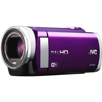 GZ-EX210VUS - HD Everio Camcorder f1.8 40x Zoom 3.0` Touchscreen WiFi (Violet)