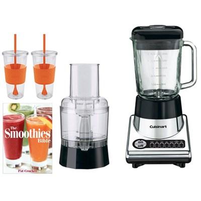 PowerBlend Duet Blender/Food Processor w/Tugo Cup Mug, Smoothies Bible