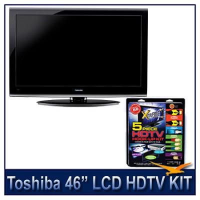 46G300U 46` 1080p LCD HDTV + High-performance HDTV Hook-up & Maintenance Kit