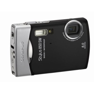 Stylus 850 SW 8MP Shockproof Waterproof Digital Camera (Black)