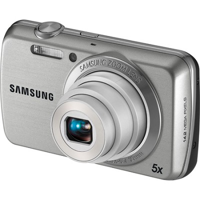 PL20 Dualview 14MP 5x Zoom Silver Digital Camera