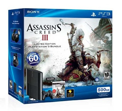 PlayStation 3  Assassin's Creed III Bundle PS3 500 GB
