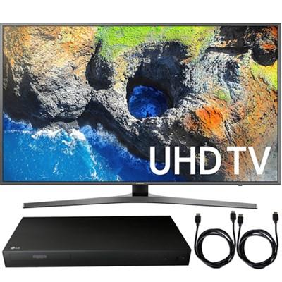 UN55MU7000FXZA 54.6` 4K UHD Smart LED TV 2017 + Blu-Ray Player Bundle