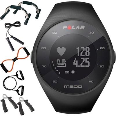 M200 GPS Running Watch w/ Wrist-Based Heart Rate, Black + Fitness Kit