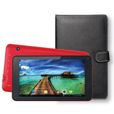 7` Bluetooth Tablet with Keyboard Case in Red - SC-5407RD