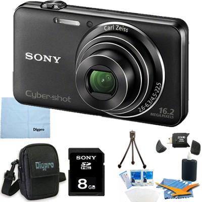 DSC-WX50/B - 16.2MP CMOS Camera 5X Optical Zoom 2.7` LCD (Black) 8GB Bundle