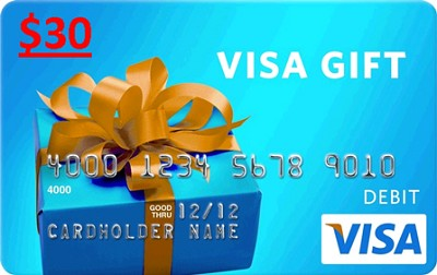 $30 Gift Card (Allow 4-6 weeks for delivery)