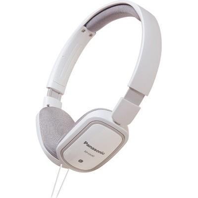 RP-HX40-W Slimz Light Weight On Ear Headphones (White/White)