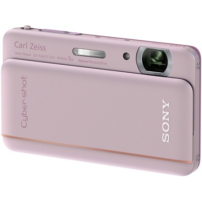 Cyber-shot DSC-TX66 18.2 MP Exmor R CMOS Camera 5X Zoom 3.3` OLED (Pink)