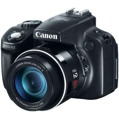 Powershot SX50 HS 12.1 MP Digital Camera - Black - OPEN BOX