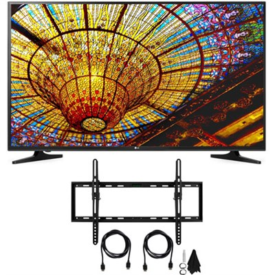 50UH5500 - 50` 4K HDR Pro Smart LED TV w/ webOS 3.0 w/ Complete TV Set-Up Bundle