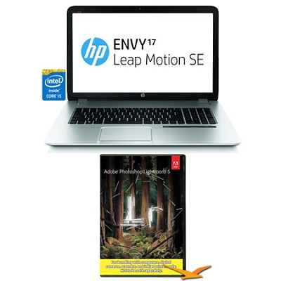 Envy 17.3` 17-j150nr Leap Motion SE Notebook PC - Photoshop Lightroom Bundle