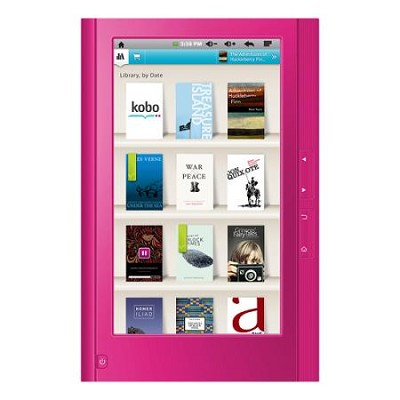 eGlide 7` Google Android Touch Screen Tablet & Kobo eReader- 4GB with WiFi Pink