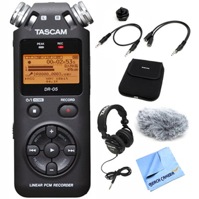 DR-05 Portable Digital Recorder with Accessory Bundle