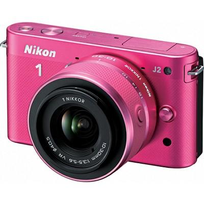 1 J2 SLR Pink Digital Camera w/ 10-30mm VR Lens (27576)