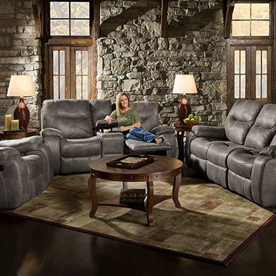 Homestead Double Reclining Console Loveseat