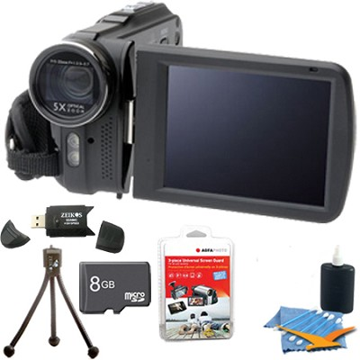 DV5HDZ Slim 1080p Full HD Digital Video Camcorder with Touchscreen Ultimate Kit!
