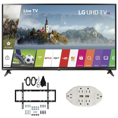 43-inch UHD 4K HDR Smart LED TV (2017 Model) w/ Wall Mount Bundle