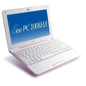 Eee PC 1008HA Pearl Pink Seashell 10.1 inch NetBook
