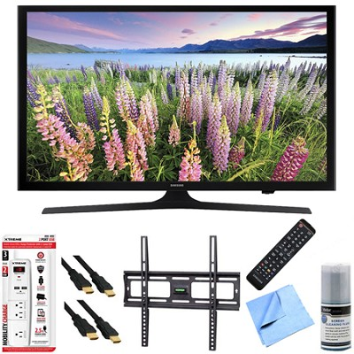 UN48J5000 - 48-Inch Full HD 1080p LED HDTV Mount & Hook-Up Bundle