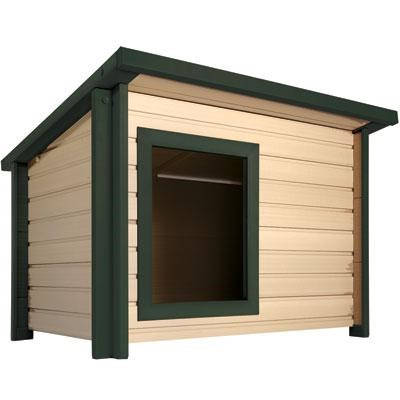 Extra Large Rustic Lodge Dog House - ECOH203XL-GN