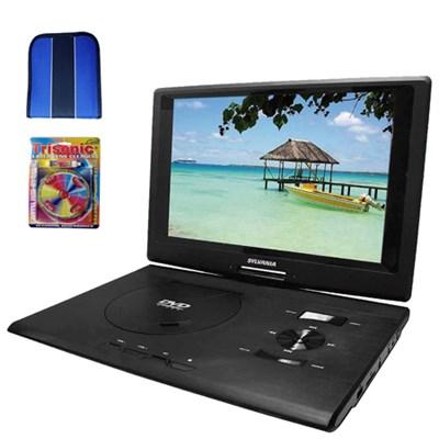 13.3` DVD Player (Swivel) w/ USB/SD Card Reader - Essentials Bundle