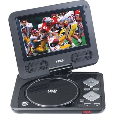 7` TFT LCD Swivel Screen Portable DVD Player with USB/SD/MMC Inputs