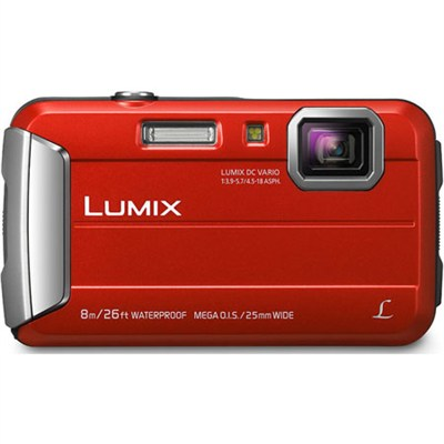 LUMIX DMC-TS30 Active Lifestyle Tough Red Digital Camera - OPEN BOX