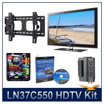 LN37C550 HDTV + Hook-up Kit + Power Protection + Calibration + Tilt Mount