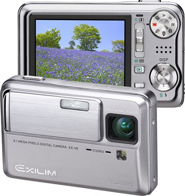 Exilim EX-V8 8.1 MP, 7X Optical Zoom and- 2.5` Super Bright LCD (Silver)
