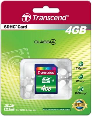 4 GB Secure Digital High-Capacity (SDHC) Class 4  {TS4GSDHC4 }