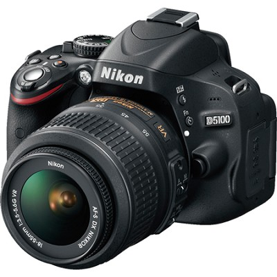 D5100 DX-format Digital SLR Body w/ 18-55mm VR Lens Factory Refurbished