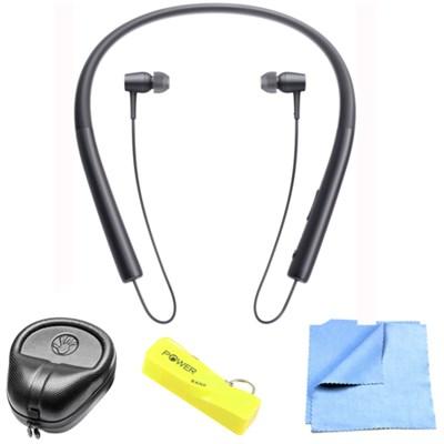 Wireless In-ear Bluetooth Headphone w/ NFC - Charcoal Black w/ Power Bank Bundle
