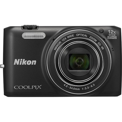 COOLPIX S6800 16MP 1080p HD Video Digital Camera - Black