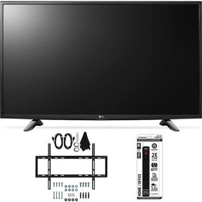 49LH5700 49-Inch Full HD Smart LED TV Slim Flat Wall Mount Bundle