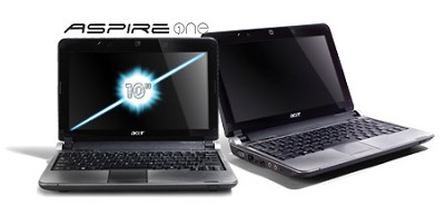 Aspire one 10.1` Netbook PC - Black (AOD250-1727)