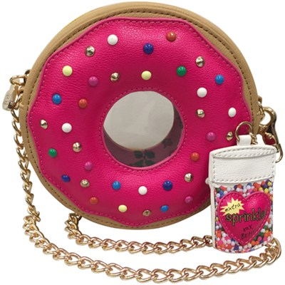 Donut Crossbody Handbag - Fuchsia