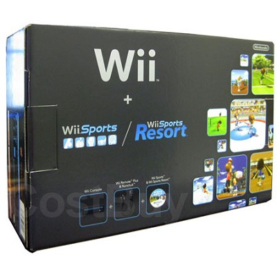 Wii Console Black Sports Resort  -  NEW TORN BOX