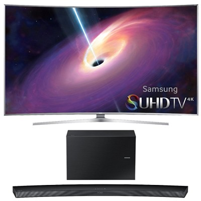 UN78JS9100 - Curved 78-Inch 4K Ultra HD Smart LED TV w/ HW-J7500 Soundbar Bundle