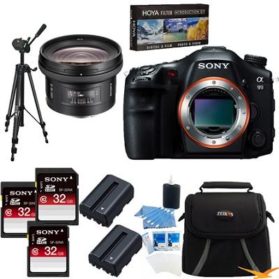 Alpha SLT-A99V 24.3 MP SLR Camera (Black) + 20MM f/2.8 Full Frame Lens