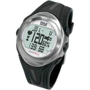 PPDM1 Digital Heart Rate Monitor Watch With Chronograph, Pulse, And Pedometer
